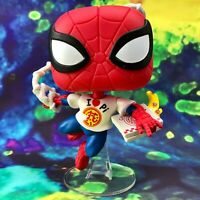 Spider-Man with Pizza Box Lunch Exclusive Marvel Funko POP! #672 *Damaged Box*