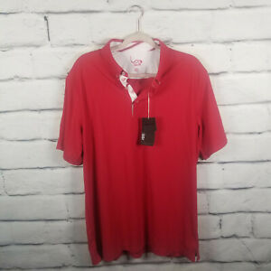 Golf Eagle Mens Sz Large Shirt Moisture Wicking Stretch New With Tags Red