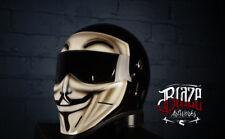 Custom painted Vendetta  Matrix Street Fx Motorcycle helmet,Simpson bandit Style