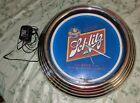 "Schlitz Beer Milwaukee 14"" Neon Clock Blue Man Cave Garage Bar with Adapter RARE"
