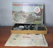 Gilbert ERECTOR SET N. 10611 Il costruttore Set veicoli militari 5 in 1