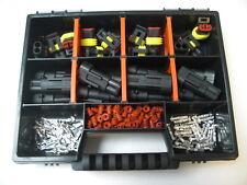 12 x AMP Superseal Stecker Set  2-polig Auto Motorrad Boot.