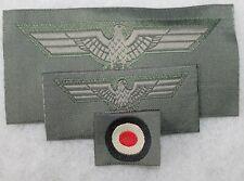 lot de 3 insignes armée de terre mle40 allemande 2e guerre mondiale ,repro WH