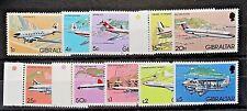 Gibraltar 1982 Aircraft Part Set(Includes Top 6 Values). MNH.