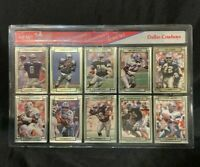 1990 Dallas Cowboys TRADING CARDS Action Packed Premiere National Team Set 1990