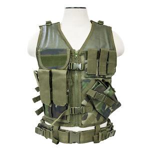 VISM Tactical Vest (Woodland Camo/M - XXL)  24263