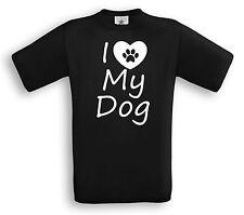 I Love My Dog-t-shirt-Dog perros Sport agility funshirt amor regalo Fun