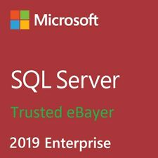 SQL Server 2019 Enterprise Product Key License MS Unlimited CPU Cores & CALS