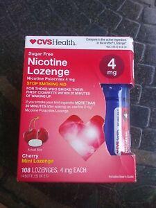 CVS Nicotine Mini Lozenges 4mg.  180 Total - Exp 7/22.  Cherry