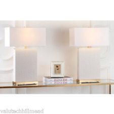Safavieh Palmer 70.48cm Table Lamp in White/ Gold - Sold as Pair