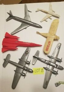 JUNKYARD MODEL & Toy AIRPLANE Pieces/Parts (Lot B) 6 Aircraft  As-Found