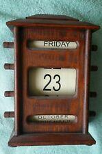 Wooden Desk Shelf Perpetual Scrolling Calendar