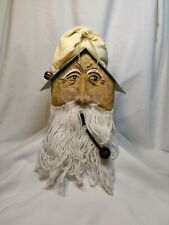Christmas Santa Claus Hand Painted Metal Birdhouse with Spectacles / Wooden Pipe