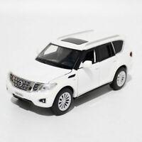 1:32 Nissan Patrol Y62 SUV Model Car Diecast Gift Toy Vehicle Kids White Sound