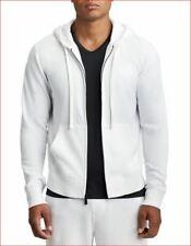 new TRUE RELIGION men sweater jacket hoodie Matte 101714 white L MSRP $169