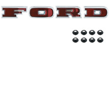 "Ford Bronco Chrome ""Ford"" Grille Letter Set 1966-1967"