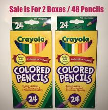 24 Crayola Color Pencils Set (2 Packs of 24 = 48)