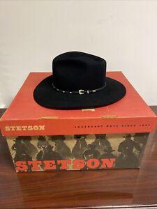 XXXX Stetson Diamond Jim Black size 7 1/4 with Original Box