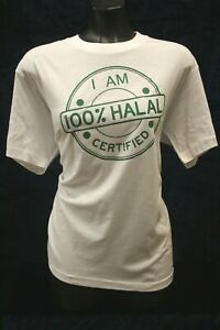 """""""I AM 100% HALAL CERTIFIED"""" T shirt Hoodie trending Unique Clothing FREE p&P"""