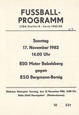 DDR-Liga 82/83 BSG Bergmann-Borsig Berlin - BSG Motor Babelsberg, 17.11.1982