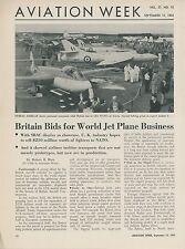 1952 Aviation Article English Air Show SBAC DH 110 Crash Farmborough England