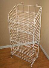 "2 Floor Snack Display Rack - 5 Adjustable Shelf 24"" Wide (White)"