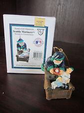 "Seattle MARINERS Santa's Gift Ornament 4"" NEW In BOX CHRISTMAS Memory Company"