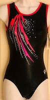 GK DREAMLIGHT TANK ADULT SMALL BLACK FOIL FIESTA SPANGLEZ GYMNASTICS LEOTARD AS