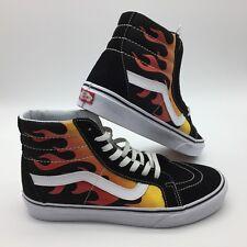 """Vans Men's Shoes """"SK8-Hi Reissue"""" (Flame) Black/Black/Tr Wht"""
