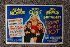 Some Like it Hot Lobby Card Movie Poster Marilyn Monroe Jack Lemmon
