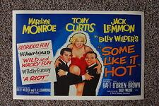Some Like it Hot Lobby Card Movie Poster Marilyn Monroe Jack Lemmon