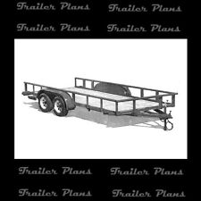 8' X 20' Heavy Duty Tandem Axle Utility Trailer Plans W/ Instructions. 40 +Pages