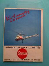 """publicités anciennes L'HELICOPTERE   DES  CHAUSETTES  STEMM """"(P1 )"""