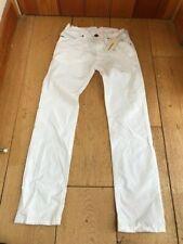 diesel boys bright white crisp cotton poiak k straight trousers 8 y unworn