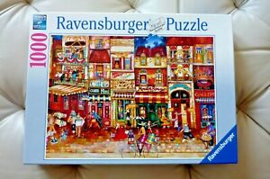 """RAVENSBERGER Germany 1000 Piece Jigsaw Puzzle """"STREETS OF FRANCE""""  27x20"""