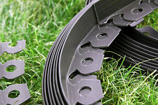 More details for flexible garden border lawn grass edge edging easy install  brown and green