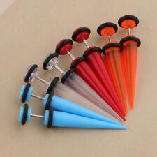 8Pcs Acrylic Stud Earrings Barbell Fake Gauges Kit Faux Plugs Body Jewelry
