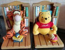 Disney Winnie The Pooh & Tigger Bookends With Plush Buddies Mini Books - VGC