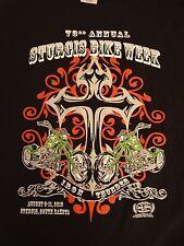 Biker T Shirt 2013 Cycle Shirts 79th annual Sturgis Bike Week Black L