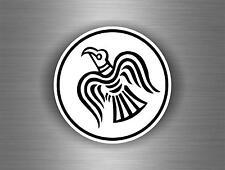 Sticker car decal biker banner tuning viking raven helmet vinland flag odin r2