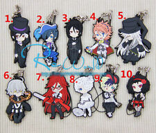 T109 Hot Japan Anime Black Butler Rubber Keychain Key Ring RARE Cosplay 5
