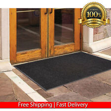 BLACK CHARCOAL 3X5 OUTDOOR MAT COMMERCIAL ENTRANCE INDOOR RUBBER ENTRY RUG NEW