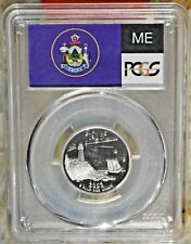 2003 S MAINE 25C SILVER QUARTER PCGS PR69DCAM COLLECTIBLE US COINS GIFTS 29