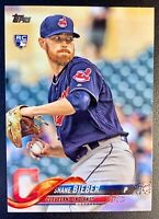 2018 Topps Update #198 SHANE BIEBER Rookie RC Card Cleveland Indians