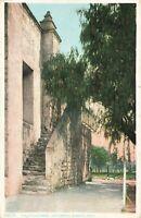 Postcard Old Stairway San Gabriel Mission California