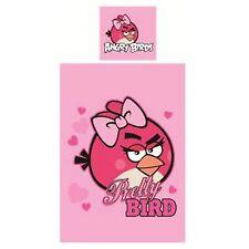Rosa Angry Birds Pretty Bird cubierta edredón individual & Funda De Almohada liberar p+p