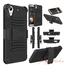Heavy Duty Black Armor Clip Holster Kickstand Case Silicone Cover For Oneplus X