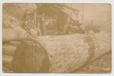 RPPC Logging Logger Steam Donkey Lumberjack Satsop Elma Montesano WA Real Photo