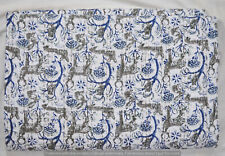 Indian Cotton Kantha Quilted Bed Cover Bedding Traditional Bedspread New Vintage