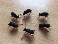 Noir Mousse Coléoptères Trout Fly Fishing Flies